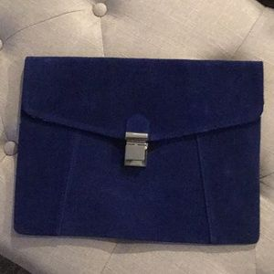 NWOT Mossimo Blue Microsuede Clutch